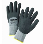 West Chester 715SNFTKD-2X Foam Nitrile 3/4 Dip Gloves w/ Dotted Palm- Black/Gray